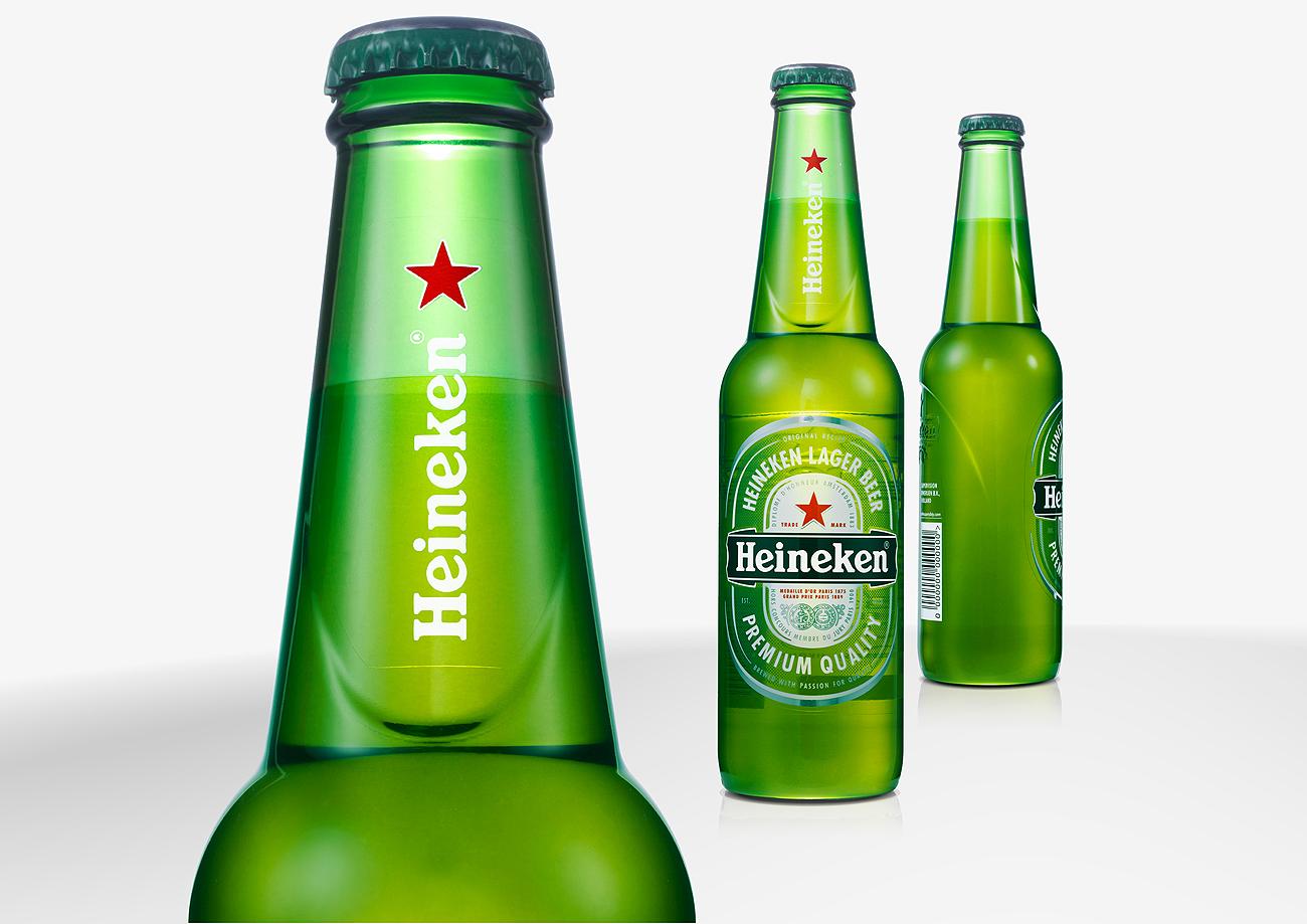 Bouteille verre Heineken Studio28