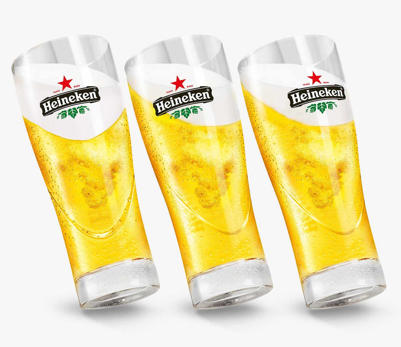 Demi de bière Heineken