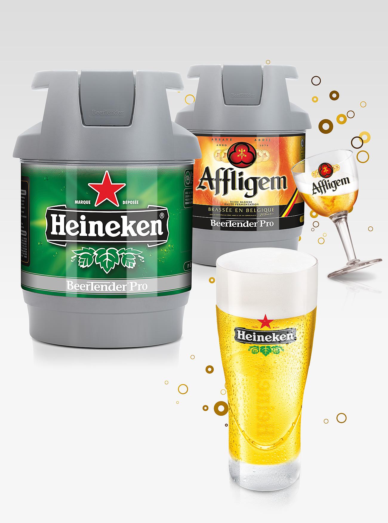 Fût de bière Heineken et Affligen